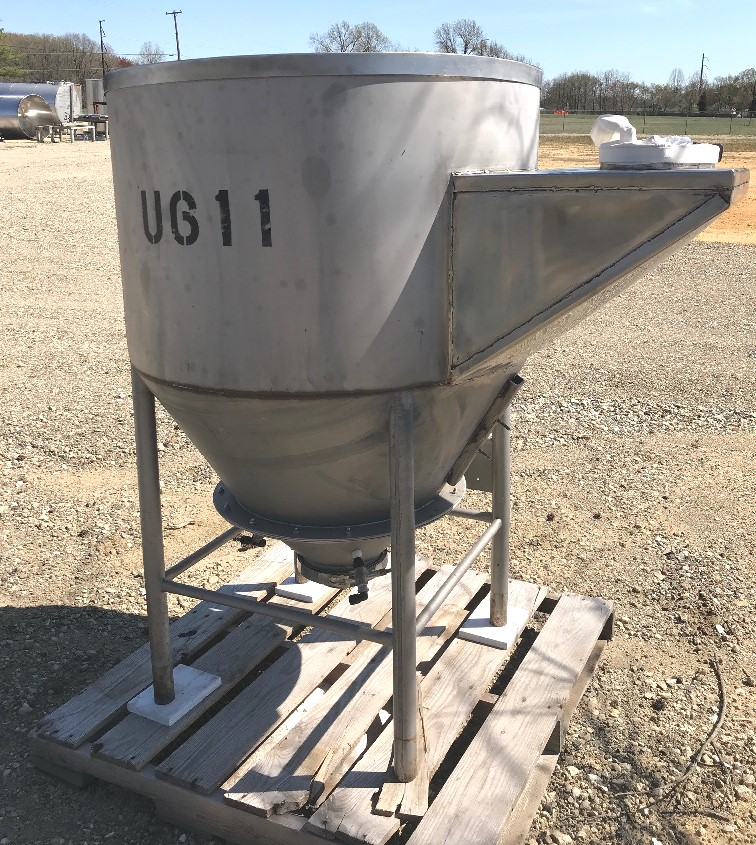 used 150 gallon (20 Cu.Ft.) Stainless Steel Tank/Hopper. 38