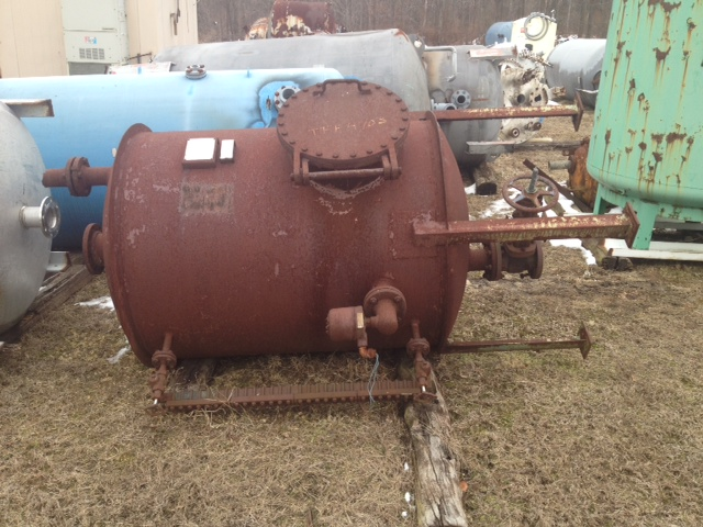 470 Gallon Carbon Steel Tank.  Hydro tested to 3 psig.  Openings: Side - (1) 18