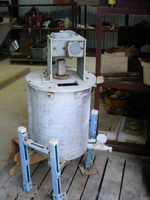 20 Gallon Air driven Sweep Agitator, Stainless Steel.  40:1 gear ratio, 1725 input/ 43 output.