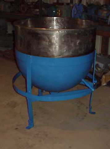 100 Gallon Stainless Steel jacketed sanitary Kettle/Tank.  CS Jacket rated for 40 PSI @ 287 degF.  Has 2\