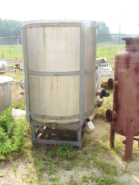 (1) 375 Gallon Stainless Steel Storage Tank.  In CS frame.  Last used in sanitary/pharmaceutical shampoo industry.