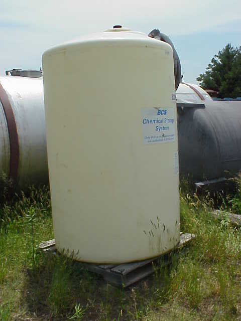 500 Gallon Poly Storage Tank.  Dish top, flat bottom.