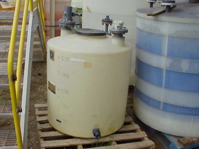 Qty (3) Each: 150 gallon (500L) Poly storage tank.