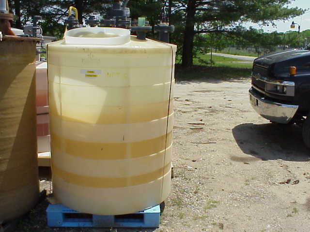 375 gallon Poly tank.  With mixer/agitator.  Has internal poly coil.  Previously used as a cooling tank.