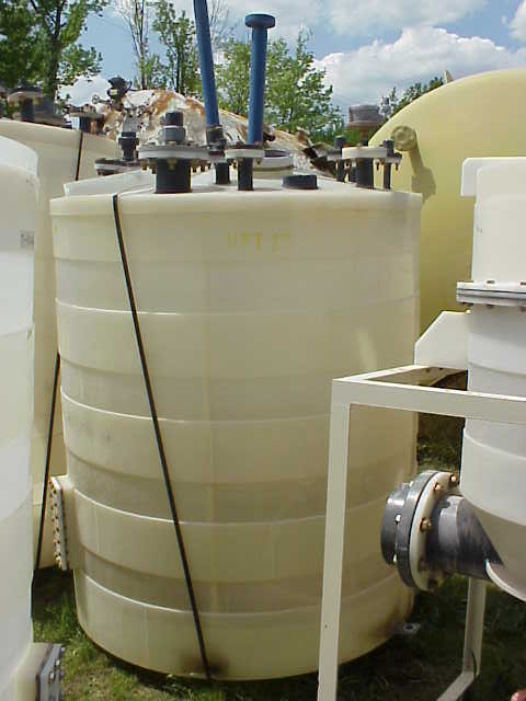 600 gallon Poly tank.  With (2) mixer/agitator.