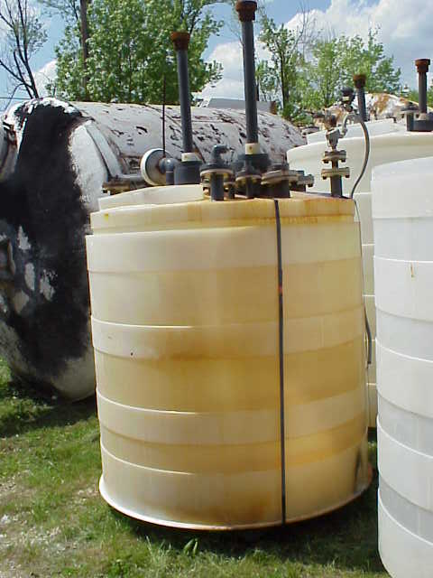 550 gallon Poly tank.  With (2) mixer/agitator.