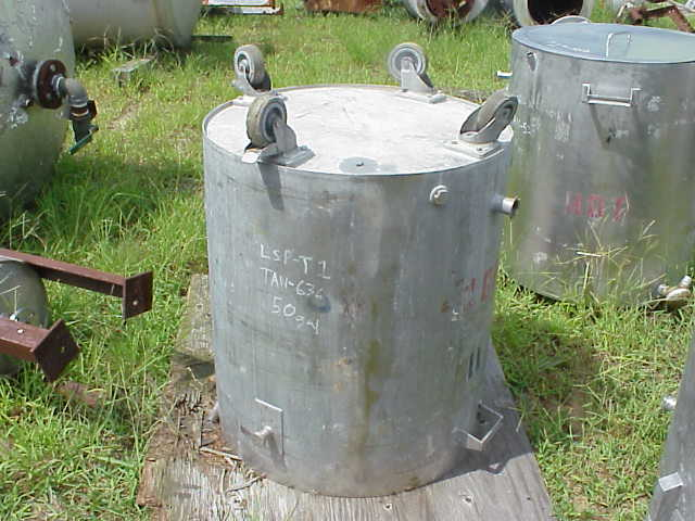 50 gallon stainless steel jacketed kettle.  On wheels.  Open top with drop-on lid.