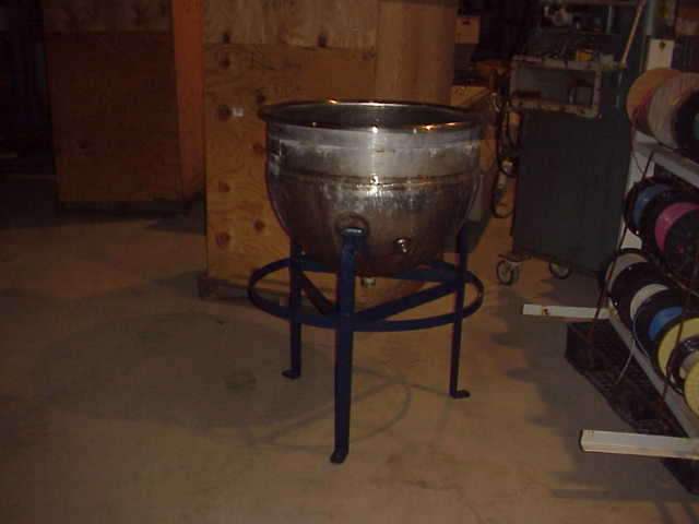 50 gallon Hamilton, Stainless Steel jacketed kettle.  Stainless Steel jacket rated 40 PSI @ 267 degF.  Open top.  30