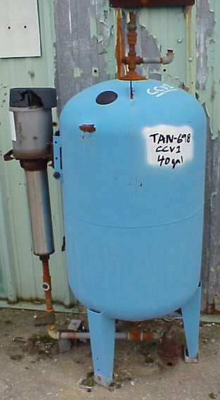 40 gallon carbon steel tank with TEEL pump on bottom outlet.