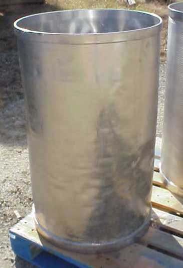 Qty (7) Each: Used 55 Gallon, Stainless Steel drums, 22