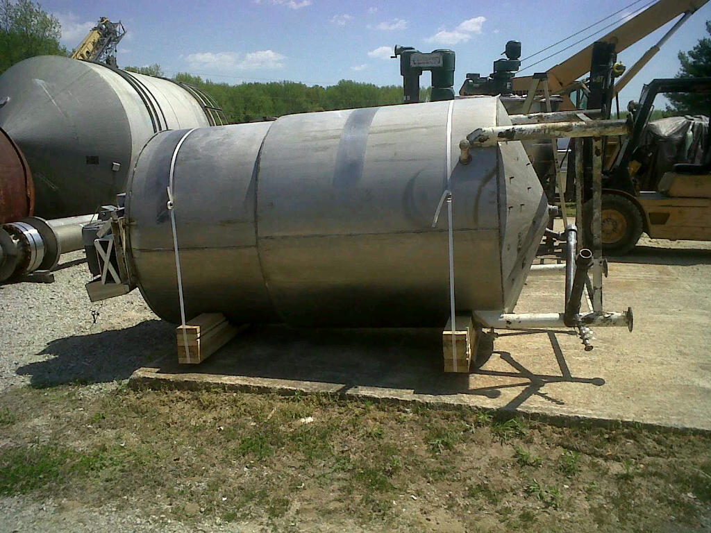 used approx. 1000 gallon stainless steel jacketed kettle, jacketed mix tank.  Sweep type mixer/agitator.  Approx. 58
