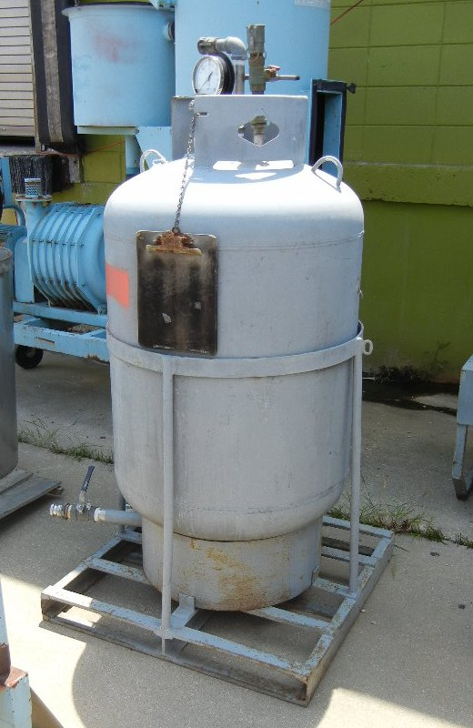 used 100 gallon carbon Steel DOT tank built by Manchester. DOT # 4BW243. Last used to hold Hydrocarbons.