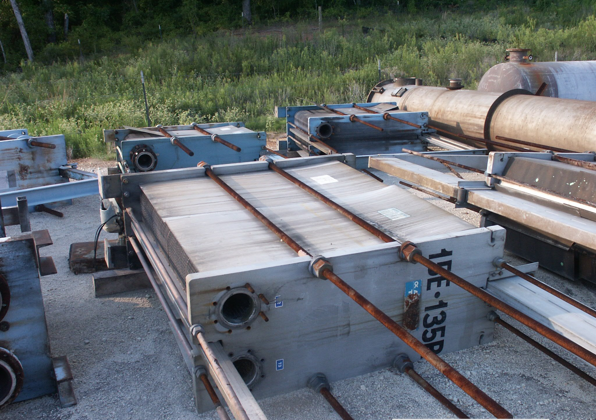 4600 Sq.Ft. ALFA LAVAL model A15-BFG. Stainless Steel plate heat exchanger. 592 Stainless Steel plates. 6