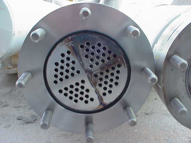 Qty. (2) Each: Approximately 80 sq.ft. Sanitary Construction Shell and Tube Heat Exchanger. Shell 4