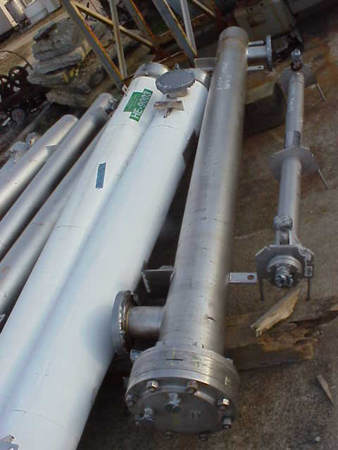 ***SOLD*** Approx. 125 Sq.Ft. Sanitary construction Shell and U Tube Heat Exchanger. Approx. 9