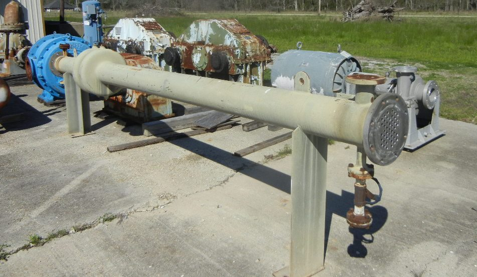 Approx 100 sqft Shell and tube heat exchanger.  (45) tubes 5/8
