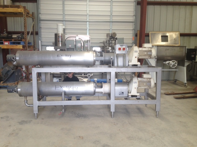 (2) used Cherry Burrell Scraped Surface Heat Exchangers/Votator/Contherm. 9 Sq.Ft. Horizontal 6