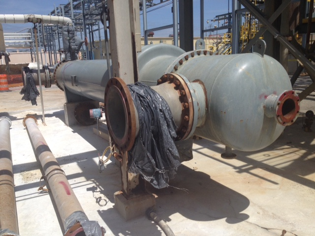 used 2150 Sq.Ft. Shell and Tube heat Exchanger Built by Southern Heat Exchanger. (335) 1.25