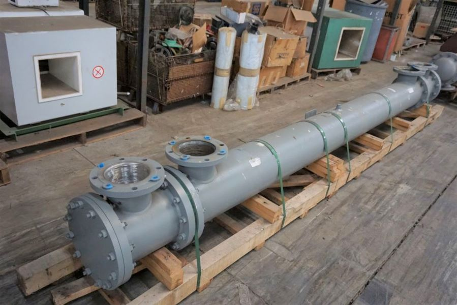 UNUSED 150 Sq.Ft. ITT Standard Shell and Tube Heat Exchanger. Stainless Steel Tubes rated 150 PSI @ 300 (-20) Deg.F. Approx (120) 1/2