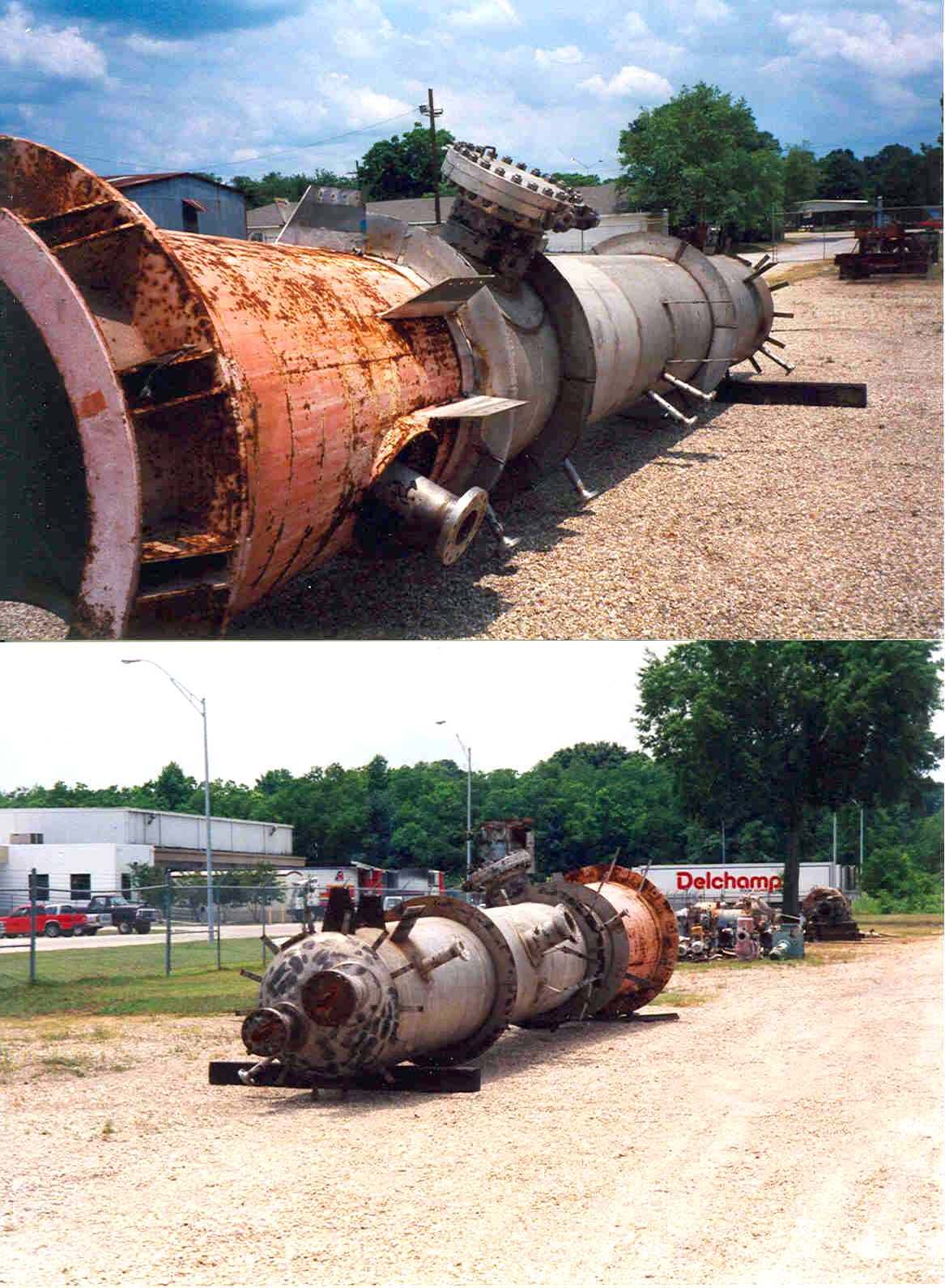 2400 Gallon Stainless Steel high pressure vessel. Demethanizer Vessel rated 500 PSI @ -200 F.  Unit is 48