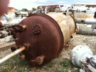 1200 Gallon Carbon Steel Pressure Vessel. Jacketed Vessel.  Jacket rated 165 @ 450 F