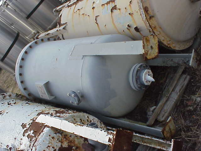 Rubber lined carbon steel pressure vessel.  4