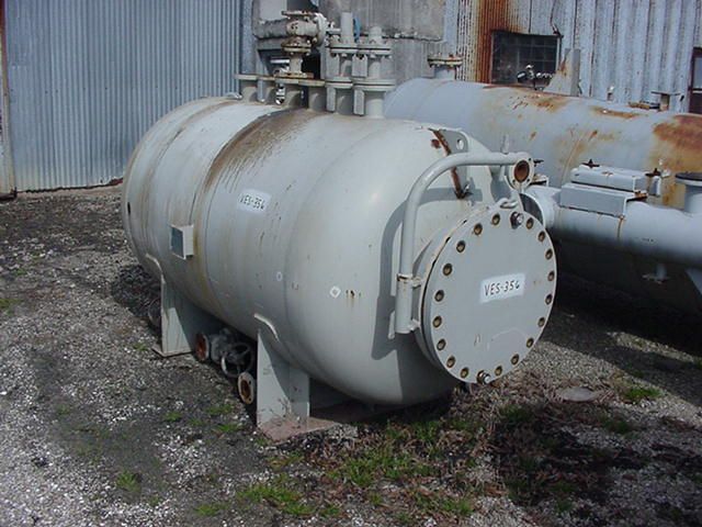 650 gallon horizontal vessel rated 15/FV at 450 degF.  Mounted on saddles.