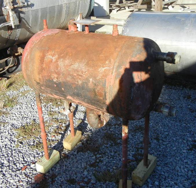 Used 40 gallon Horizontal Carbon Steel pressure vessel. Rated 300 PSI @ 450 Deg.F. & -50 Deg.F. Material ins killed steel. NB # 11991. Last used as Ammonia Surge tank.