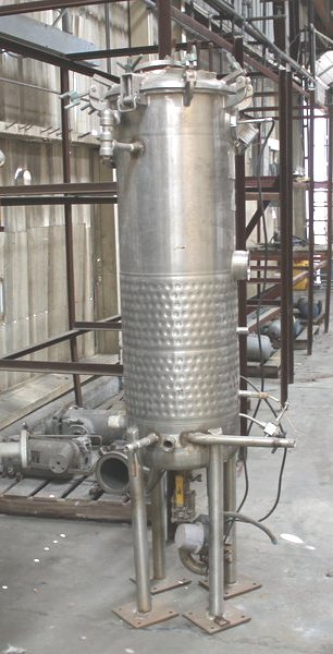 used approx. 50 gallon Gallon Paul Mueller Stainless Steel vessel with jacket. Vessel rated 60 PSI @ 100 Deg.F. Jacket rated 75 PSI @ 200 Deg.F. Unit has NB#.  Can be used as reactor.  Has sanitary fittings.