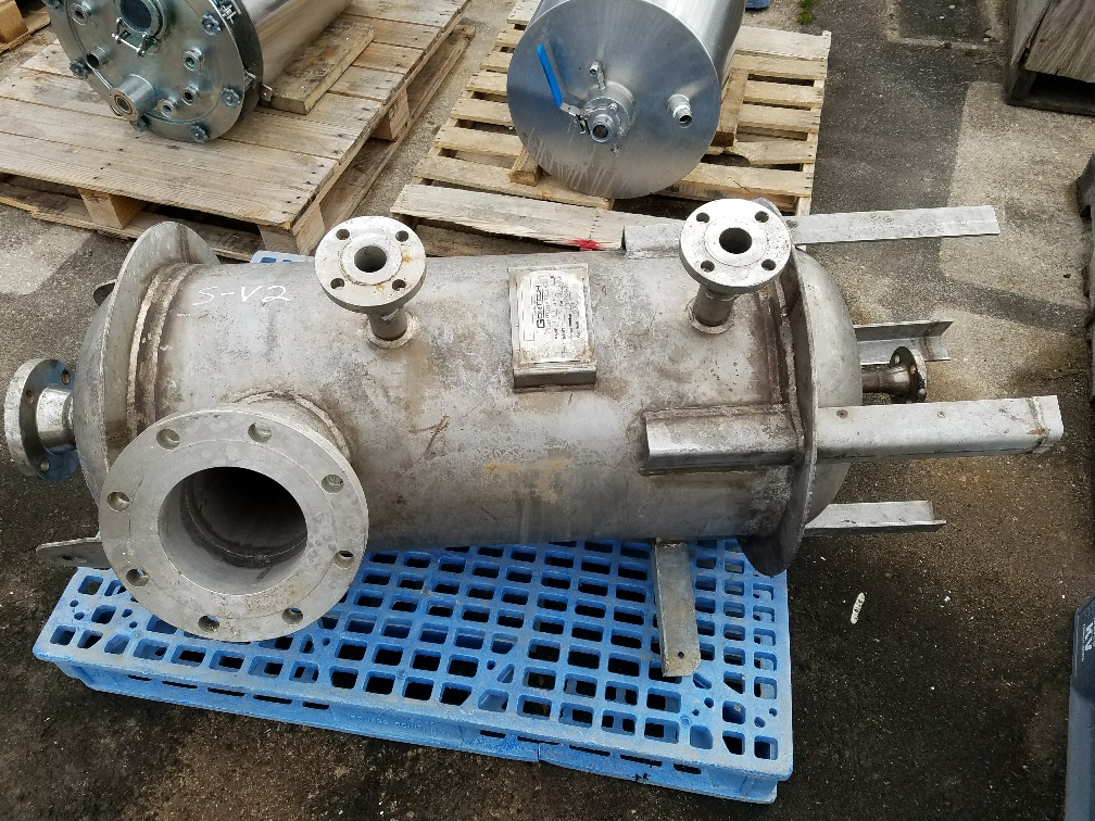 used 40 gallon Stainless Steel pressure vessel.  Rated 100 PSI @ 350/-25 degF.