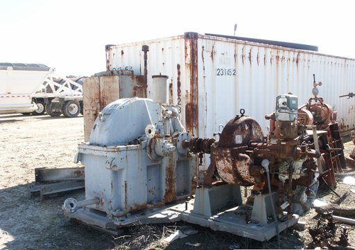 ***SOLD*** Elliott Steam Turbine, Type CYRTG-PL, S/N C2173R1. Speed 4450 RPM. Rated 1700 HP, Inlet 525 PSI @ 610 F, Outlet 55 PSI. (spare rotor in Crate) 