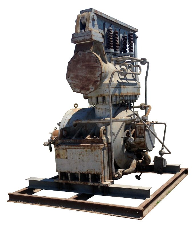 (2) Used ELLIOT Steam Turbine model SJV-3. 14,300 HP. Stages: 3 RATEAU. Non-Condensing. Inlet PSI 875; Exhaust PSI 365. Inlet: 12