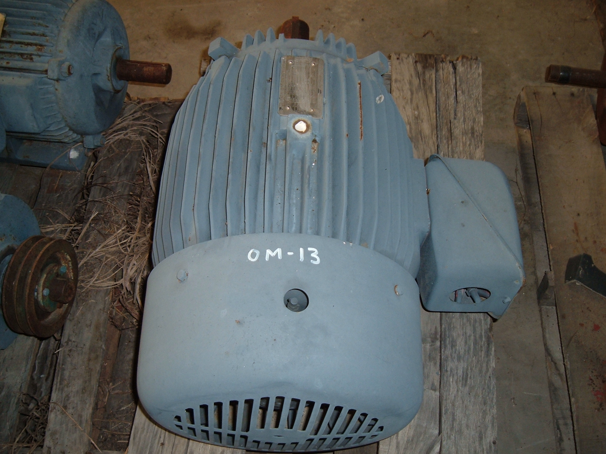 used Toshiba 40 HP, 1760 rpm electric motor.