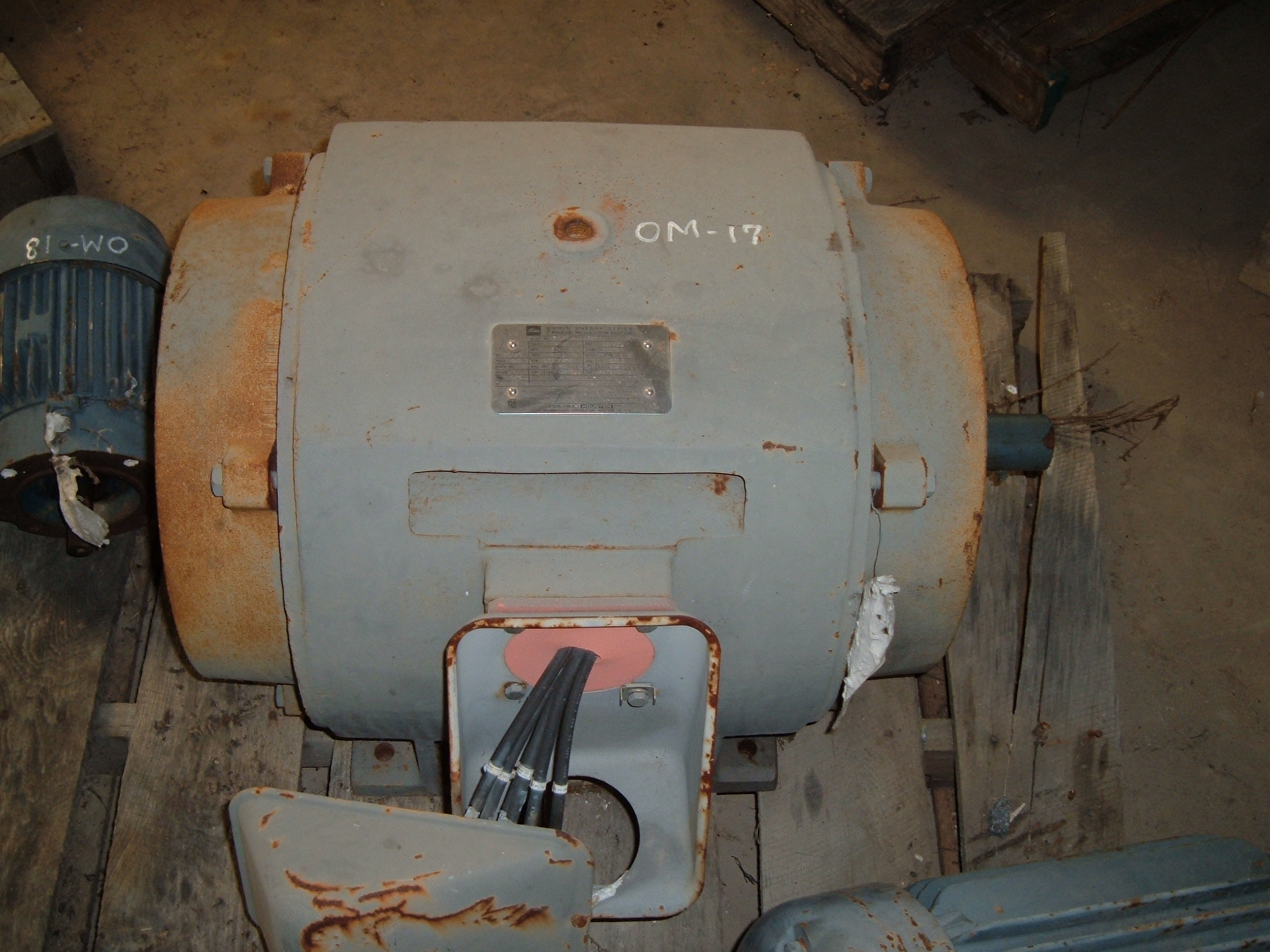 Used 50 HP electric motor. Built by Toshiba.