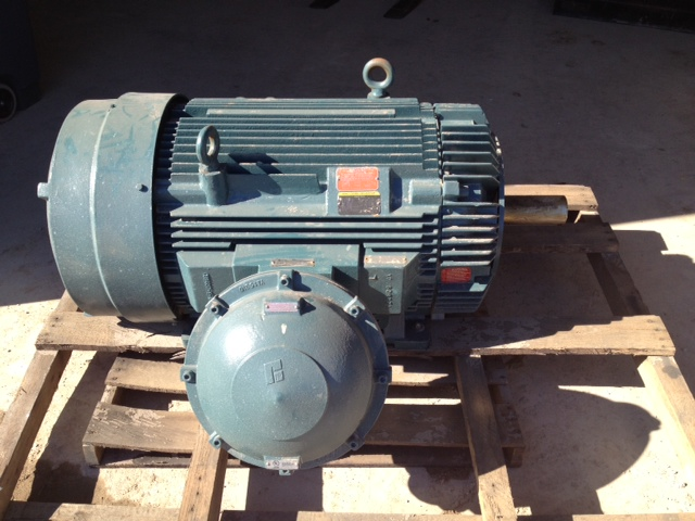 Unused 350 HP Baldor Reliance Explosion Proof, Electric Motor. 1780 RPM, 460 Volt, 3 Ph, 449T frame. UL Labeled Class 1 group D for hazardous locations. Spec B649855, S/N A1012202052. TEFC.