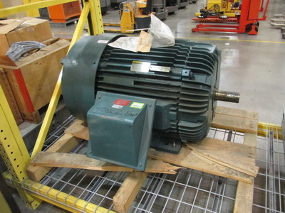 Unused 125 HP, 3565 rpm, 460 volt, 60 Hz, 3 ph electric motor buit by Baldor-Reliance. Catalogue M23A102852792.