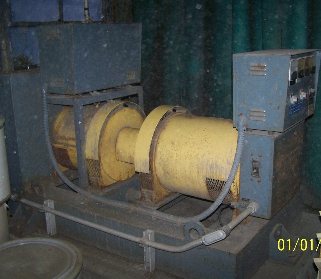 LIQUIDATION* Kato Engineering AC generator, model 3EX9E, type 1484.  3 KW, 3.75 KVA, 115 Volt, single phase, 32.6 Amp, 1800 RPM.