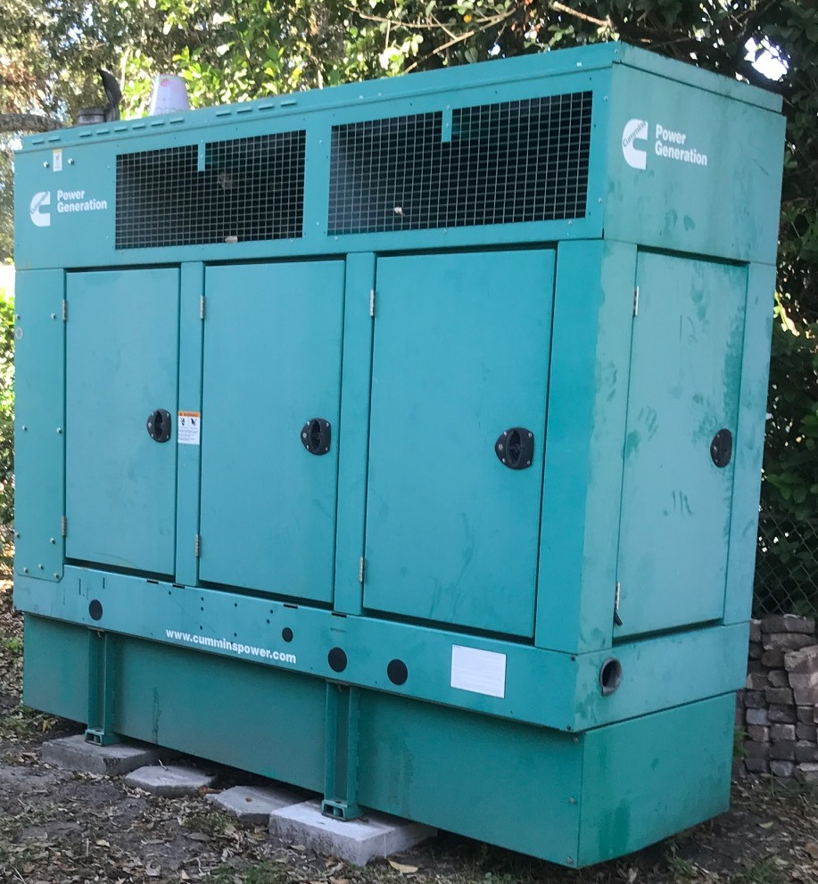 Cummings Power Generation (Generator), model# 125DSHAE-6726. Rated KW 83.8/125, KVA 83.8/156.3 (GreenCat)