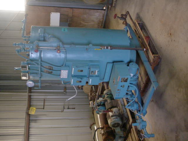 Used Fire Tube Boiler. Industrial Boiler Co. Inc. Model FP253PV-GAS. 1,050,000 BTU/Hr. 862 lb/hr. steam. Complete with boiler feed water pump and condensate return tank.