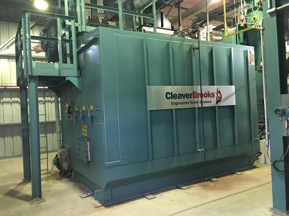 ON HOLD...NOT AVAILABLE. Used Cleaver Brooks Water Tube Steam Boiler Rated 40,000 LB/HR, 375 PSI. Model NB-200D-40.  2508 Sq.Ft. Area. Includes Economizer. Built in 2011.  The D-style is a 100% membrane water-cooled furnace, reducing costly, time-consuming, annual maintenance. (2) Available.