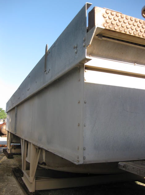 USED - AIR FIN COOLER,REFORMER GAS AIR COOLER; MFG. BY MAR-FAB (MARLEY); MODEL 1M5-11.5X40-211; 14 BWG TUBES; STAINLESS STEEL. EXTENDED SQ.FT.:50256 BARE SQ.FT.: 2241, PSI: 270, TEMP: 350F, TUBE MATERIAL: 304SS, TOTAL TUBES: 214, TUBE LENGTH (FT'IN