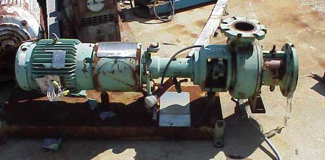 Vaughan model H4L12SEC Chopper (grinding) pump.  S/N 41194.  Driven by 10 HP, 208-230/460 V, 215TC frame, Vaughan motor.