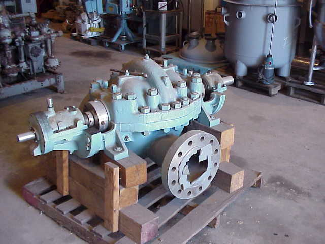 Pacific model KHC, 8x10x15 Horizontal Split Case Pump rated 2850 GPM @ 606 Ft.hd.. 304 Stainless Steel. Pump was rebuilt and not used. No base or driver. Spare impellers available.