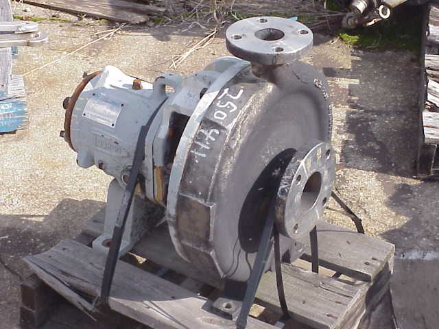 Durco Model 2K3x2x13/130. 316 Stainless Steel. Rated 300 GPM @ 165'. No drive. Bare pump