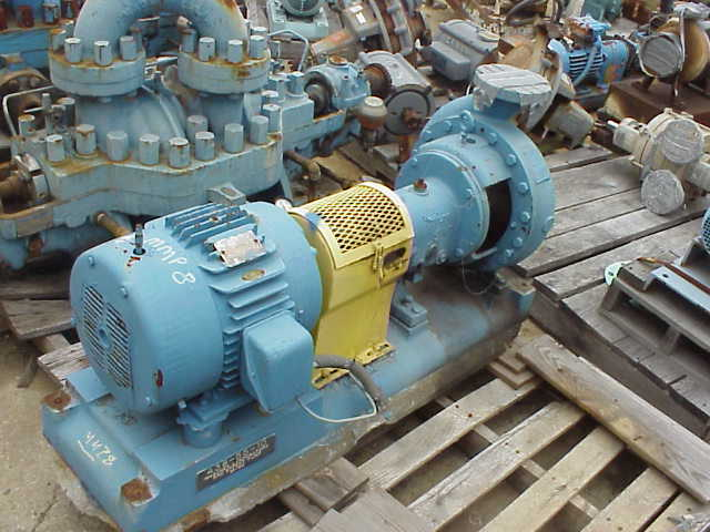 ***SOLD*** Goulds model MT pump Driven by 7.5 HP, 1165 RPM, 575 V, 254T frame, GE motor.