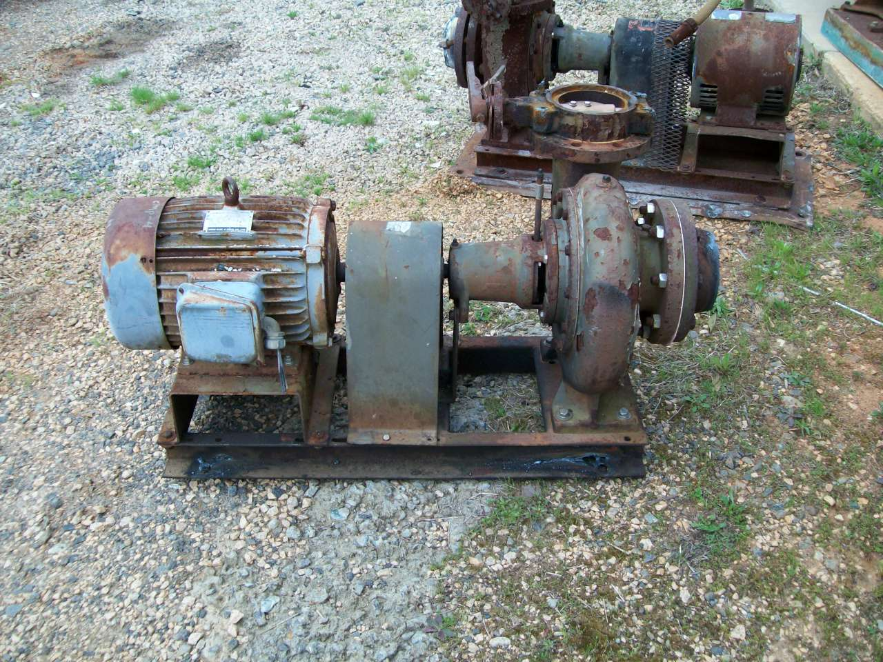 used pump Powered by 10HP Teco motor, S#XX276617045, 230/460, 1740 rpm, amps-24/12, TEFC 215T