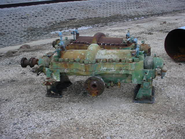 Boiler Feed Water Pumps. 8 Stage. (multi-stage) Ingersoll Rand Model 2CNTA-8. Rated 160 GPM @ 1840 Ft.Hd. 3550 RPM. 4