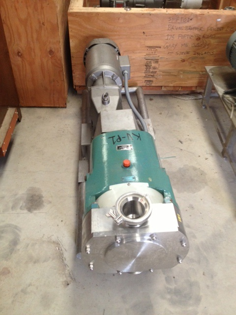 Item Sold 4 Quot Tri Clover Rotary Lobe Pump Model