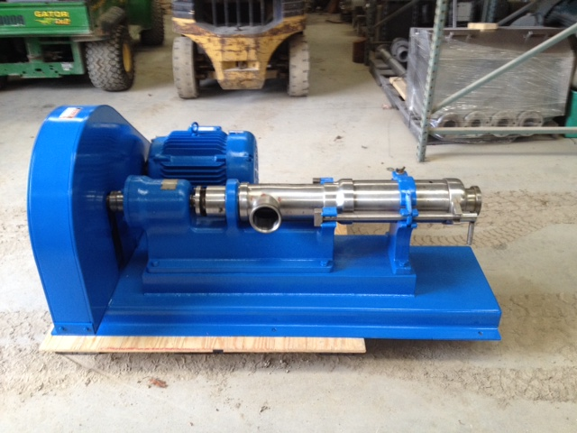 used Moyno Pump, Model 1FF10HSSE, Type FAAQE, Stainless Steel. 4\