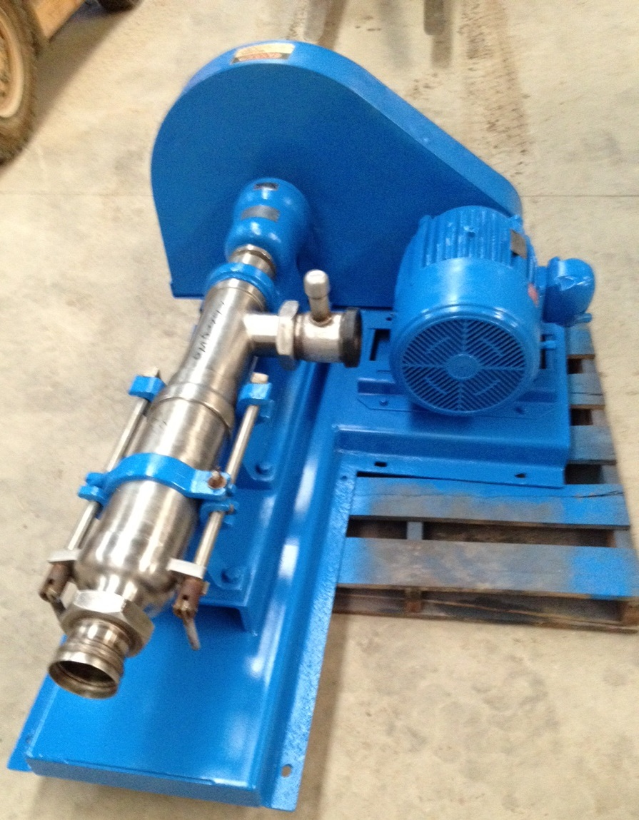 used Moyno Pump, Model 1FF10HSSQ Type AAANB, Stainless Steel. 4\